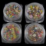 Seed Glass Beads përziera, i përzier, 30x17mm, 1.9-3.6mm, : 1mm, 12Boxes/Kuti,  Kuti