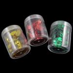 Beads plastike, asnjë, ngjyra të përziera, 39x49mm, 8x0.5mm, : 1mm, 5Boxes/Qese,  Qese