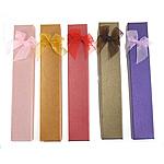 Karton Set bizhuteri Box, Drejtkëndësh, ngjyra të përziera, 230x40x25mm, 24PC/Shumë,  Shumë
