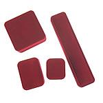 Bizhuteri Velveteen Set Box, with Plastik, Shape përziera, verë e kuqe, 7.5x5.5x3cm, 22x5x2.5cm, 9x9x4cm, 5.5x4.5x4cm, 5Sets/Shumë,  Shumë