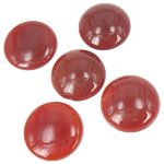 Agat Cabochon, Red agat, Round Flat, 28x28mm, 10PC/Qese,  Qese