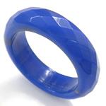 Agat unazë gishti, Blue agat, Shape Tjera, asnjë, makinë faceted, 5.5mm, 16.5mm, :6.5, 10PC/Qese,  Qese