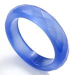 Agat unazë gishti, Blue agat, Shape Tjera, asnjë, makinë faceted, 5.5mm, 20mm, :10, 10PC/Qese,  Qese