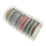 Wire bakri, Tunxh, asnjë, ngjyra të përziera, , nikel çojë \x26amp; kadmium falas, 0.30mm, 10PC/Shumë,  Shumë