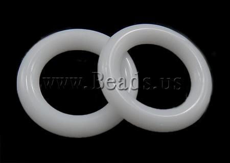 dcf9c46b9f5 Ahhaat ehteid ripatsid, Valge ahhaat, Donut, 12x12mm, : 10mm, 50Tk/Kott,  Kott - Beads.us