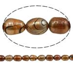 Rajs Beads ujërave të ëmbla kulturuar Pearl, Pearl kulturuar ujërave të ëmbla, Oriz, natyror, ar, Një, 7-8mm, : 0.8mm, :15Inç,  15Inç,