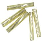 Twist Bugles rruaza farë Glass, Seed Glass Beads, Tub, kthesë, 2x9mm, : 1mm,  Qese