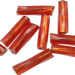 Twist Bugles rruaza farë Glass, Seed Glass Beads, Tub, kthesë, 2x6mm, : 1mm,  Qese