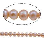 Round Beads kulturuar Pearl ujërave të ëmbla, Pearl kulturuar ujërave të ëmbla, natyror, rozë, Një, 8-9mm, : u5b54:0.8mm,mm, :14Inç,  14Inç,