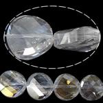 Imitim Swarovski Crystal Beads, Kristal, Round Flat, asnjë, imitim kristal Swarovski & makinë faceted, asnjë, 18x18x8mm, : 1mm, 100PC/Shumë,  Shumë