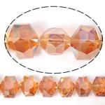 Imitim Swarovski Crystal Beads, Kristal, Gjashtëkëndësh, asnjë, imitim kristal Swarovski & makinë faceted, Zjarri Opal, 14x12x10mm, : 1mm, 100PC/Shumë,  Shumë