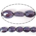Imitim Swarovski Crystal Beads, Kristal, Oval, asnjë, imitim kristal Swarovski & makinë faceted, Vjollcë, 12x9x6mm, : 1mm, 100PC/Shumë,  Shumë