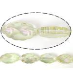 Imitim Swarovski Crystal Beads, Kristal, Oval, asnjë, imitim kristal Swarovski & makinë faceted, Silver shampanjë, 25x13x8mm, : 1mm, 100PC/Shumë,  Shumë