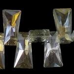 Imitim Swarovski Crystal Beads, Kristal, Trapez, asnjë, imitim kristal Swarovski & makinë faceted, Silver shampanjë, 20x11x7mm, : 1mm, 100PC/Shumë,  Shumë