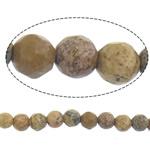 Picture Beads Jasper, Picture Jasper, Round, natyror, 4mm, : 14Inç, 10Fillesat/Shumë,  Shumë