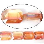 Imitim Swarovski Crystal Beads, Kristal, Drejtkëndësh, asnjë, imitim kristal Swarovski & makinë faceted, Zjarri Opal, 18x13x7mm, : 1mm, 100PC/Shumë,  Shumë