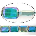 Imitim Swarovski Crystal Beads, Kristal, Drejtkëndësh, asnjë, imitim kristal Swarovski & makinë faceted, asnjë, 18x13x7mm, : 1mm, 100PC/Shumë,  Shumë