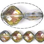 Imitim Swarovski Crystal Beads, Kristal, Katror, asnjë, imitim kristal Swarovski & makinë faceted, asnjë, 15x15x9mm, : 1mm, 100PC/Shumë,  Shumë