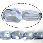 Imitim Swarovski Crystal Beads, Kristal, Shape Tjera, asnjë, imitim kristal Swarovski & makinë faceted, Lt Sapphire, 19x14x11mm, : 1mm, 100PC/Shumë,  Shumë