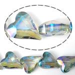Imitim Swarovski Crystal Beads, Kristal, Zemër, asnjë, imitim kristal Swarovski & makinë faceted, asnjë, 22x18x10mm, : 2mm, 100PC/Shumë,  Shumë