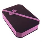Bizhuteri Velveteen Set Box, Drejtkëndësh, 135x185x45mm, 10PC/Shumë,  Shumë