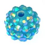Beads diamant i rremë Rrëshirë, Rrëshirë diamant i rremë, Daulle, asnjë, Skyblue, 12x14mm, : 2.5mm, 100PC/Qese,  Qese