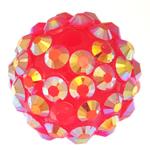 Beads diamant i rremë Rrëshirë, Rrëshirë diamant i rremë, Daulle, asnjë, rozë, 14x16mm, : 2.5mm, 100PC/Qese,  Qese