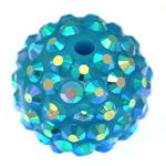 Beads diamant i rremë Rrëshirë, Rrëshirë diamant i rremë, Daulle, asnjë, Skyblue, 16x18mm, : 2.5mm, 100PC/Qese,  Qese
