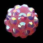 Beads diamant i rremë Rrëshirë, Rrëshirë diamant i rremë, Daulle, asnjë, rozë, 10x12mm, : 2mm, 100PC/Qese,  Qese