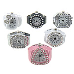 Shikojnë unazë gishti, Alloy zink, 19-22x1-22mm, 14-18mm, 10PC/Shumë,  Shumë