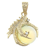 Deti Pendants opal, Deti Opal, with Tunxh, Kafshë, me diamant i rremë, 27x35x20mm, : 7x10mm, 10PC/Qese,  Qese