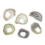 Agat pendants bizhuteri, Ice kuarc agat, Nuggets, i përzier, 29-42x23-40x6.5-7.5mm, 10PC/Qese,  Qese