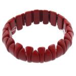 Fashion Bracelets Turquoise, Bruz sintetike, i kuq, 7x19mm, 7x16mm, : 7Inç, 20Fillesat/Shumë,  Shumë