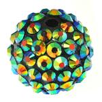 Harz Strass Perlen, Trommel, 18x20mm, Bohrung:ca. 3mm, 100PCs/Tasche, verkauft von Tasche