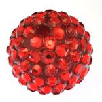 Beads diamant i rremë Rrëshirë, Rrëshirë diamant i rremë, Daulle, asnjë, i kuq, 18x20mm, : 3mm, 100PC/Qese,  Qese