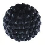 Beads diamant i rremë Rrëshirë, Rrëshirë diamant i rremë, Daulle, asnjë, e zezë, 18x20mm, : 2.5mm, 100PC/Qese,  Qese