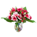 Lule artificiale Kryesore Dekor, Mëndafsh, Shape Tjera, i kuq, 450x440mm, 10PC/Qese,  Qese