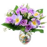 Lule artificiale Kryesore Dekor, Plastik, vjollcë, 450x440mm, 10PC/Qese,  Qese