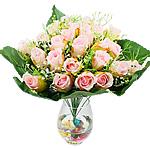 Lule artificiale Kryesore Dekor, Plastik, trëndafili dritë, 500x480mm, 10PC/Qese,  Qese