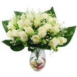 Lule artificiale Kryesore Dekor, Mëndafsh, Shape Tjera, dritë bathë jeshile, 500x480mm, 10PC/Qese,  Qese