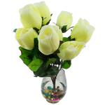 Lule artificiale Kryesore Dekor, Mëndafsh, Shape Tjera, dritë bathë jeshile, 550x350mm, 10PC/Qese,  Qese