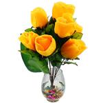 Lule artificiale Kryesore Dekor, Mëndafsh, Shape Tjera, i verdhë, 550x350mm, 10PC/Qese,  Qese