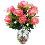 Lule artificiale Kryesore Dekor, Mëndafsh, Shape Tjera, rozë, 50x47mm, 10PC/Qese,  Qese