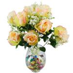 Lule artificiale Kryesore Dekor, Mëndafsh, Shape Tjera, 490x330mm, 10PC/Qese,  Qese