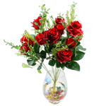Lule artificiale Kryesore Dekor, Mëndafsh, Shape Tjera, i kuq, 550x330mm, 10PC/Qese,  Qese
