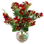 Lule artificiale Kryesore Dekor, Mëndafsh, Shape Tjera, i kuq, 490x300mm, 10PC/Qese,  Qese
