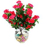 Lule artificiale Kryesore Dekor, Mëndafsh, Shape Tjera, i kuq, 380x300mm, 10PC/Qese,  Qese
