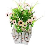 Lule artificiale Kryesore Dekor, Mëndafsh, Shape Tjera, trëndafili dritë, 500x300mm, 10PC/Qese,  Qese