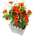 Lule artificiale Kryesore Dekor, Mëndafsh, Shape Tjera, portokall, 500x300mm, 10PC/Qese,  Qese