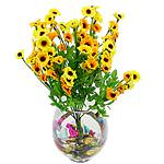 Lule artificiale Kryesore Dekor, Mëndafsh, Shape Tjera, i verdhë, 440x240mm, 10PC/Qese,  Qese